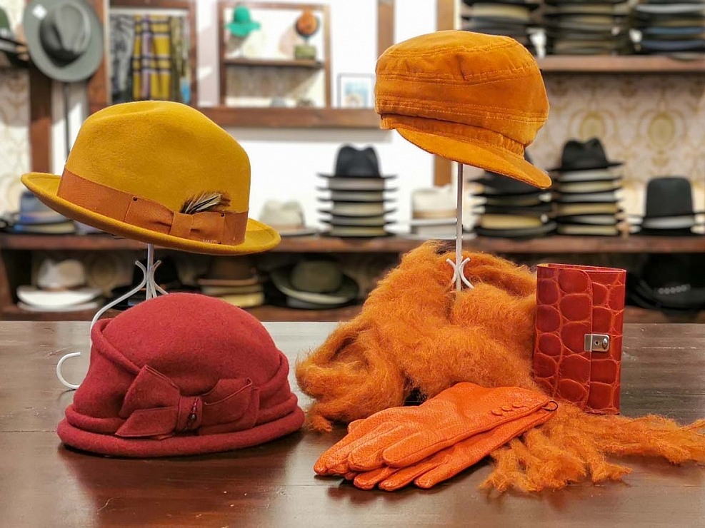 HutUp Trendfarbe Hut orange Fedoras, Trilbies, Pork Pies