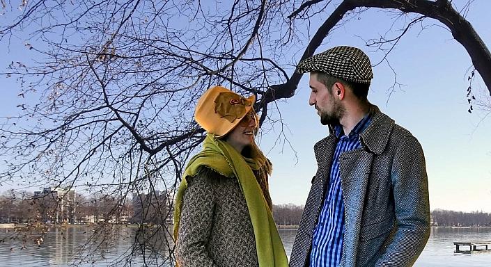 HutUp Tweed Flatcap Schurwolle
